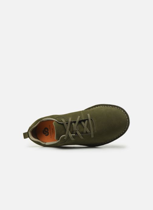 Lace-up shoes Cloudsteppers by Clarks Step Welt Free Green view from the left