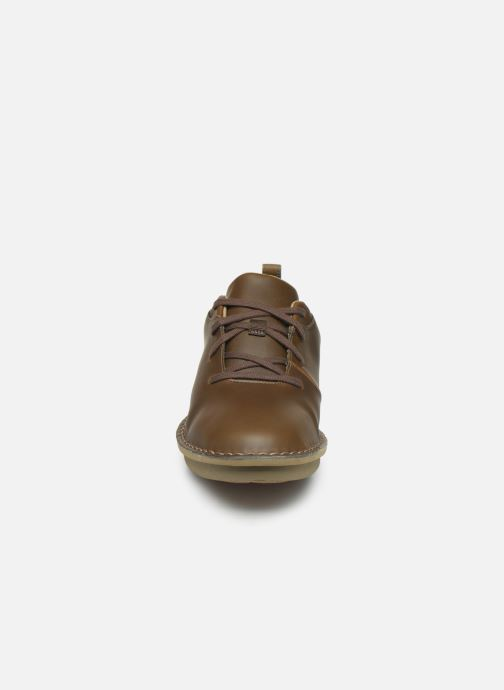 Lace-up shoes Cloudsteppers by Clarks Step Welt Free Brown model view