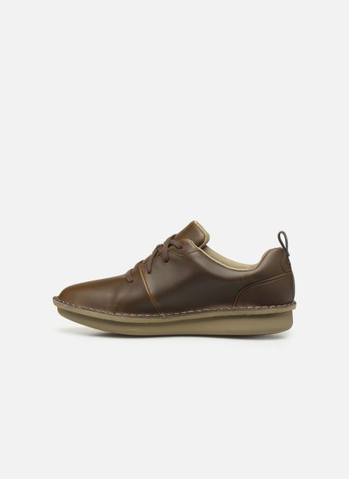 Lace-up shoes Cloudsteppers by Clarks Step Welt Free Brown front view