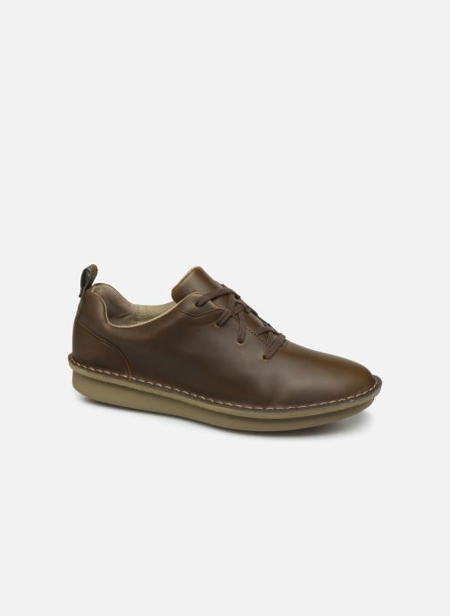 Lace-up shoes Cloudsteppers by Clarks Step Welt Free Brown detailed view/ Pair view