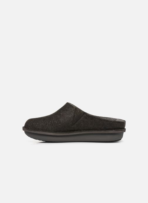 Slippers Cloudsteppers by Clarks Step Flow Clog Black front view