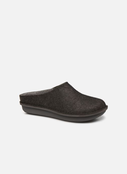 Slippers Cloudsteppers by Clarks Step Flow Clog Black detailed view/ Pair view