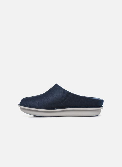 Slippers Cloudsteppers by Clarks Step Flow Clog Blue front view