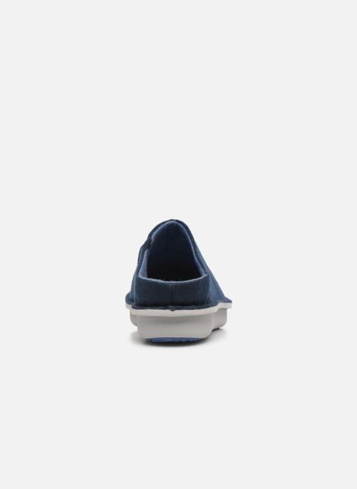 Pantoffels Cloudsteppers by Clarks Step Flow Clog Blauw rechts