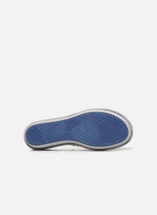 Slippers Cloudsteppers by Clarks Step Flow Clog Blue view from above