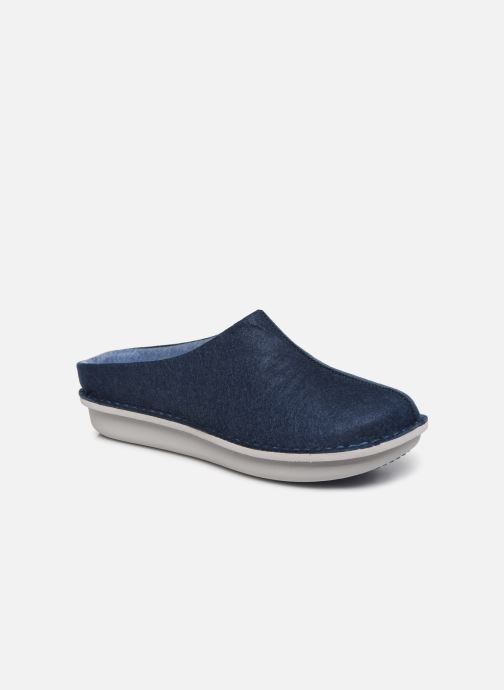 Slippers Cloudsteppers by Clarks Step Flow Clog Blue detailed view/ Pair view