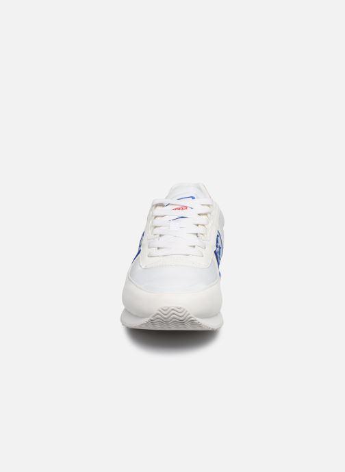 Baskets Kappa Curtis Blanc vue portées chaussures