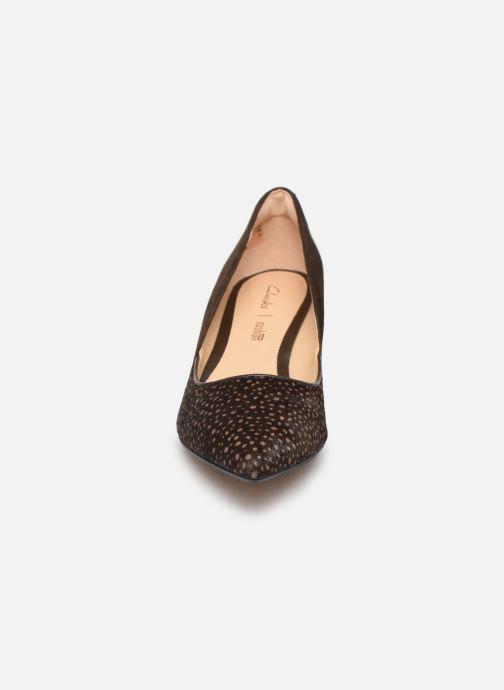 Escarpins Clarks Ellis Rose Marron vue portées chaussures