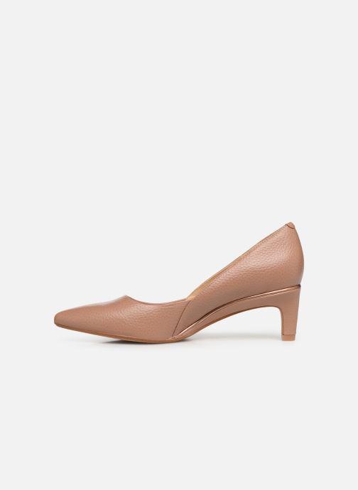 High heels Clarks Ellis Rose Beige front view