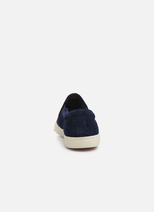 Trainers Clarks Glove Puppet Blue view from the right