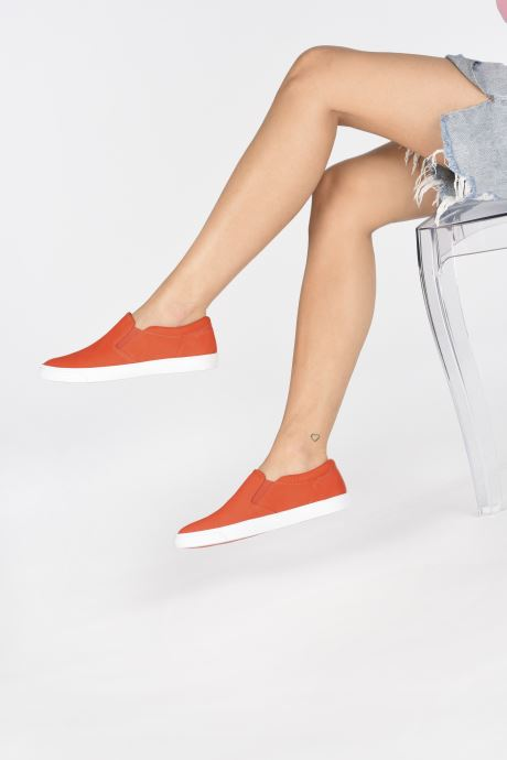 Baskets Clarks Glove Puppet Orange vue bas / vue portée sac