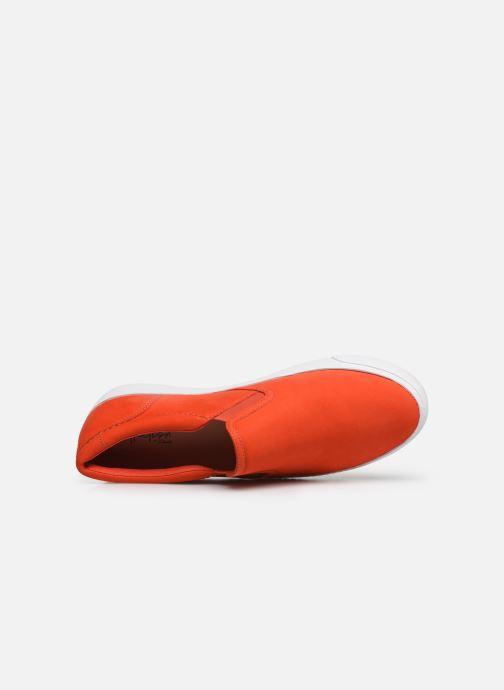 Deportivas Clarks Glove Puppet Naranja vista lateral izquierda