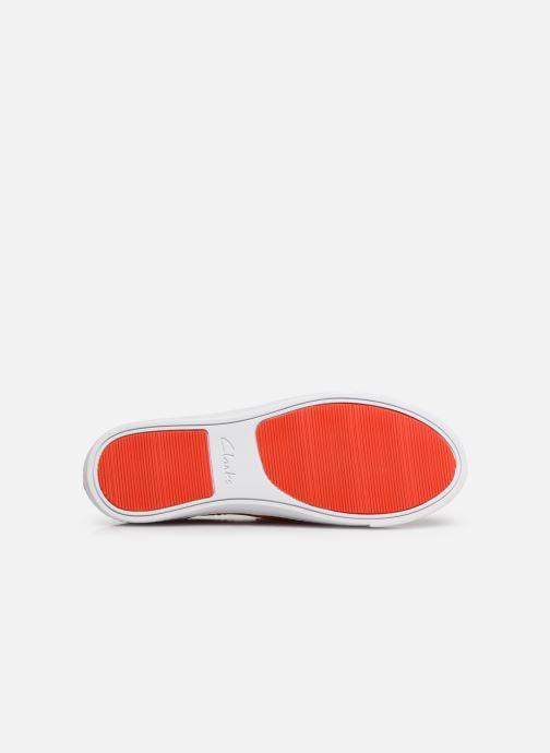 Baskets Clarks Glove Puppet Orange vue haut