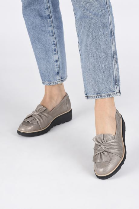 Loafers Clarks Sharon Dasher Beige view from underneath / model view