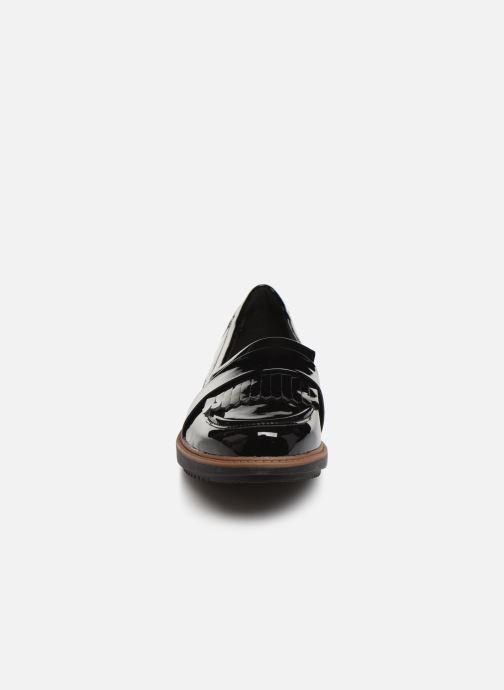 Slipper Clarks Raisie Theresa schwarz schuhe getragen