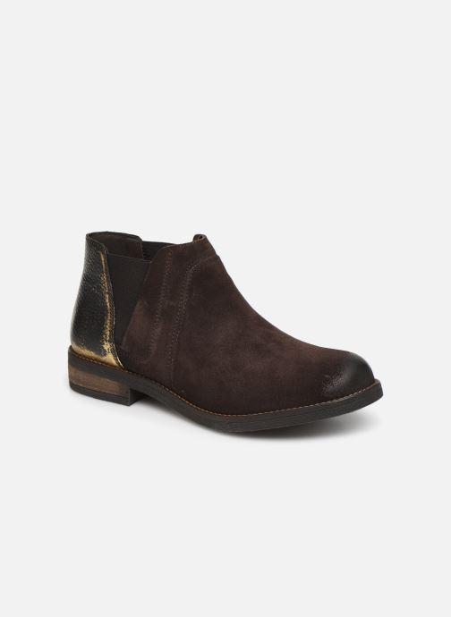 Ankelstøvler Clarks Demi Beat Brun detaljeret billede af skoene