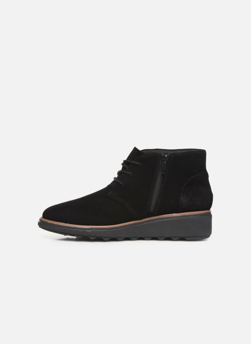 Ankle boots Clarks Sharon Hop Black front view