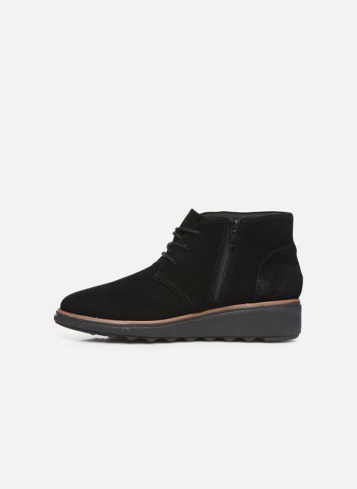 Bottines et boots Clarks Sharon Hop Noir vue face