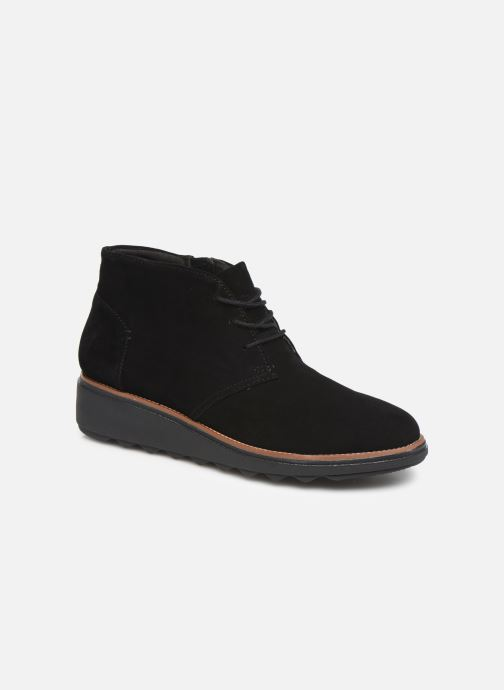 Boots en enkellaarsjes Clarks Sharon Hop Zwart detail