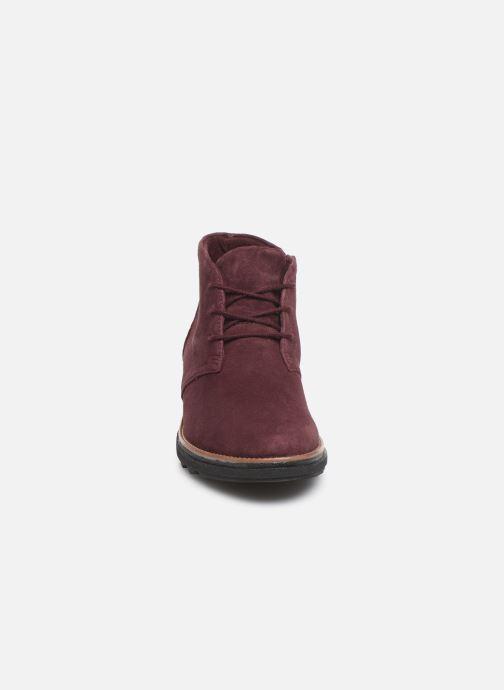 Bottines et boots Clarks Sharon Hop Bordeaux vue portées chaussures