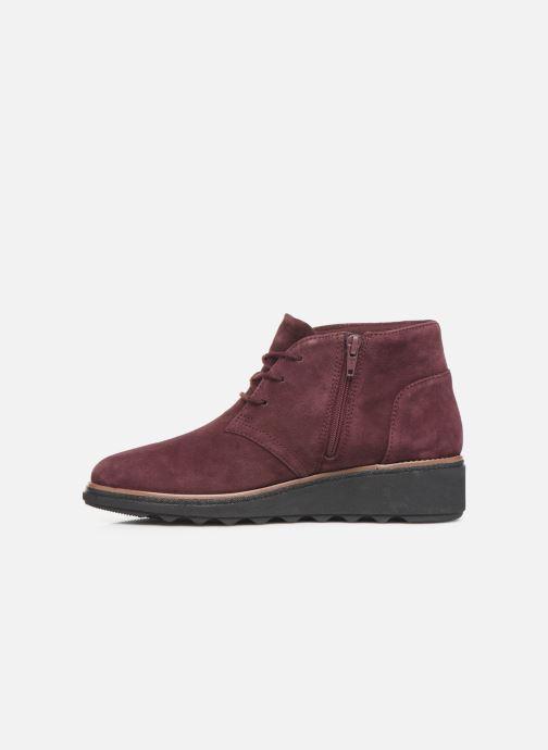 Bottines et boots Clarks Sharon Hop Bordeaux vue face
