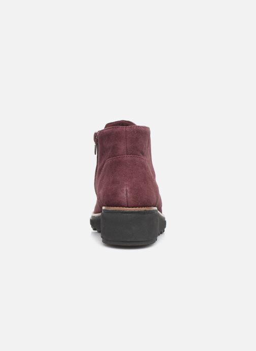 Bottines et boots Clarks Sharon Hop Bordeaux vue droite