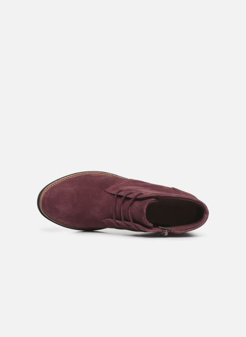 Bottines et boots Clarks Sharon Hop Bordeaux vue gauche