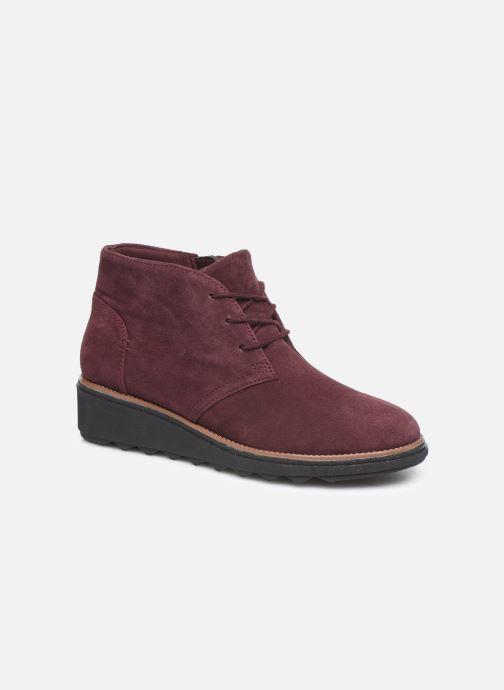 Bottines et boots Clarks Sharon Hop Bordeaux vue détail/paire