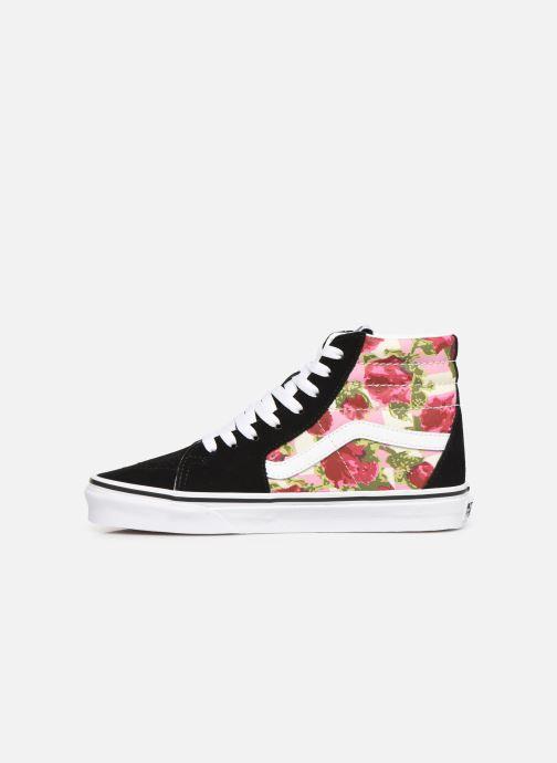 Sneakers Vans Sk8-Hi (Romantic Floral) Zwart voorkant