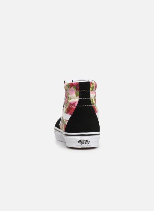Trainers Vans Sk8-Hi (Romantic Floral) Black view from the right