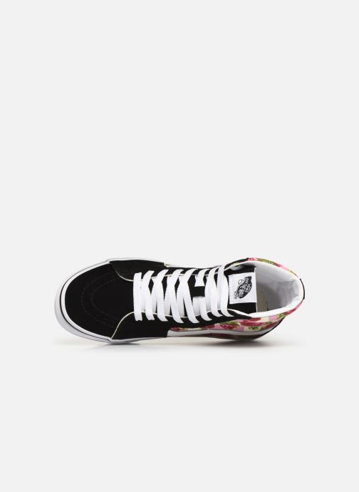Trainers Vans Sk8-Hi (Romantic Floral) Black view from the left