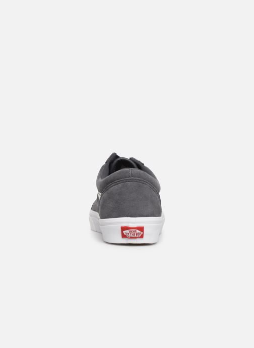 Trainers Vans Old Skool (Soft Suede) Grey view from the right