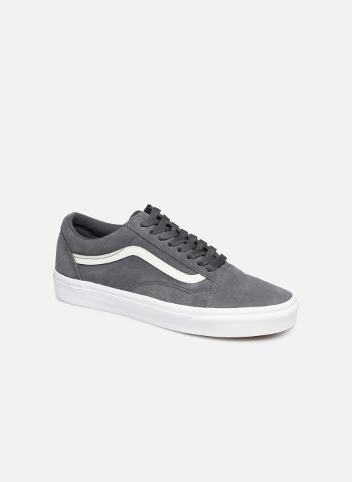 Trainers Vans Old Skool (Soft Suede) Grey detailed view/ Pair view