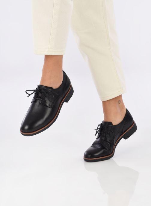 Chaussures à lacets Clarks Griffin Lane Noir vue bas / vue portée sac