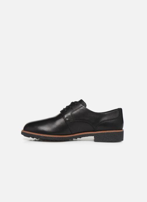 Chaussures à lacets Clarks Griffin Lane Noir vue face