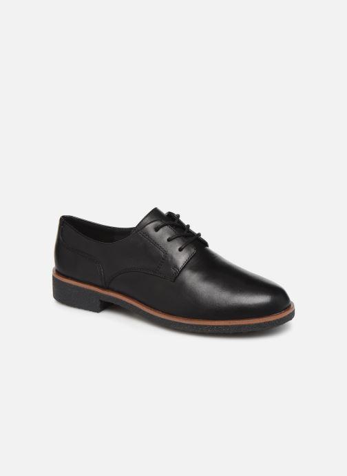 Snøresko Clarks Griffin Lane Sort detaljeret billede af skoene