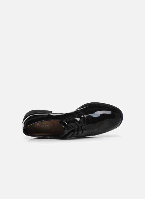 Zapatos con cordones Clarks Griffin Lane Negro vista lateral izquierda