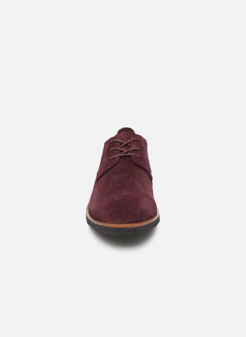 Chaussures à lacets Clarks Griffin Lane Bordeaux vue portées chaussures