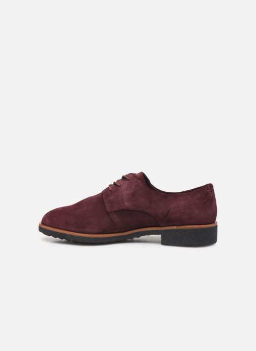 Zapatos con cordones Clarks Griffin Lane Vino vista de frente