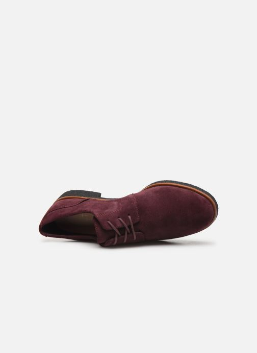 Chaussures à lacets Clarks Griffin Lane Bordeaux vue gauche