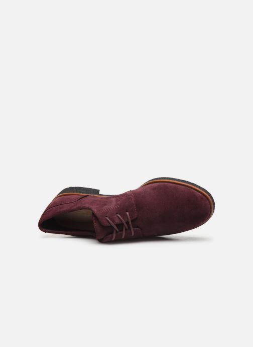 Zapatos con cordones Clarks Griffin Lane Vino vista lateral izquierda