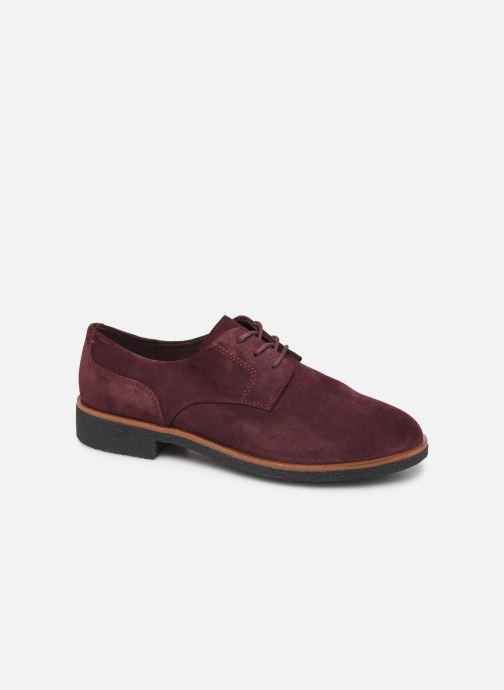 Snøresko Clarks Griffin Lane Bordeaux detaljeret billede af skoene