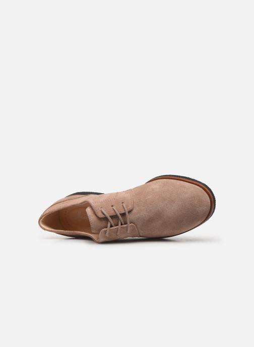 Chaussures à lacets Clarks Griffin Lane Beige vue gauche