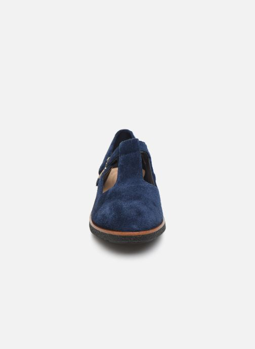 Ballerines Clarks Griffin Town Bleu vue portées chaussures