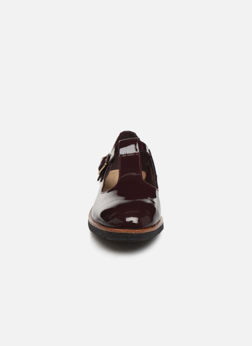 Ballerines Clarks Griffin Town Bordeaux vue portées chaussures