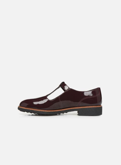 Ballerines Clarks Griffin Town Bordeaux vue face