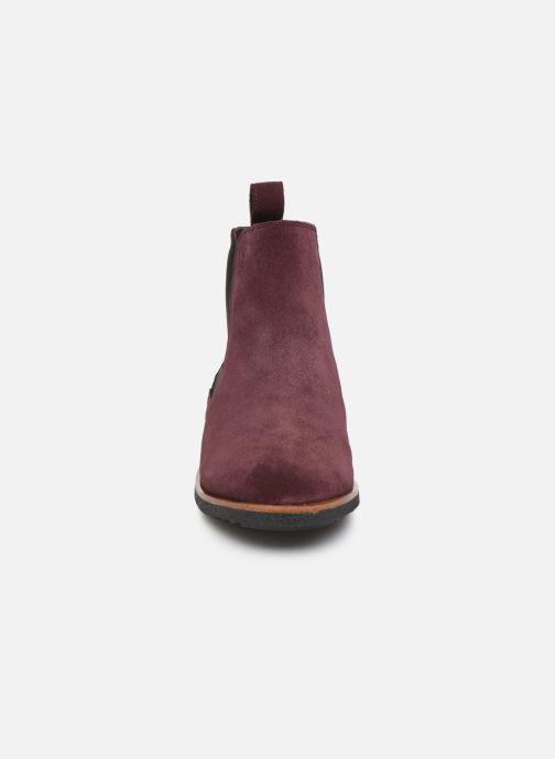 Bottines et boots Clarks Griffin Plaza Bordeaux vue portées chaussures