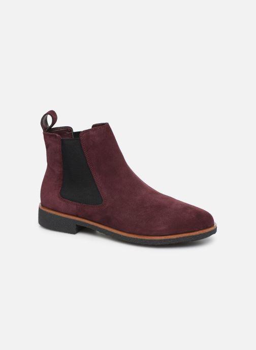 Ankelstøvler Clarks Griffin Plaza Bordeaux detaljeret billede af skoene