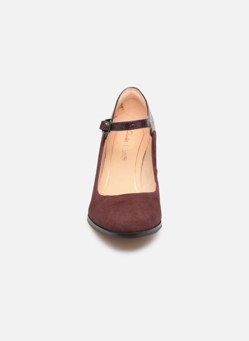 Escarpins Clarks Kaylin Alba Bordeaux vue portées chaussures