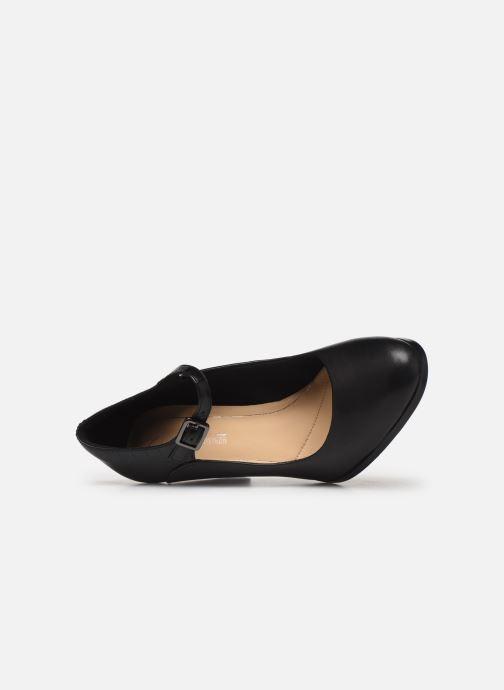 Zapatos de tacón Clarks Kaylin Alba Negro vista lateral izquierda